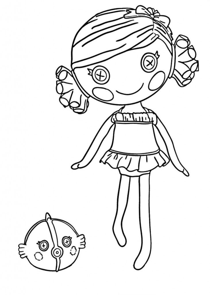Lalaloopsy Coloring Pages Pdf : Lalaloopsy coloring pages for kids free sheets