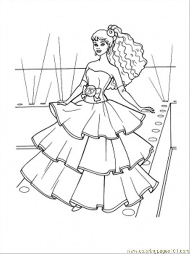 Coloring Pages Flamenco Dress (Entertainment > Clothing) - free