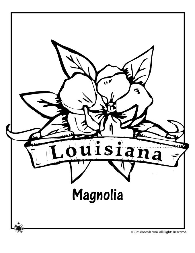 louisiana flag coloring pages - photo#10