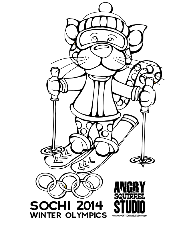 coloring pages winter olympics - photo#29