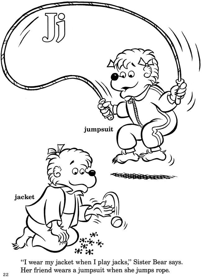 bernstein bear coloring pages - photo#18