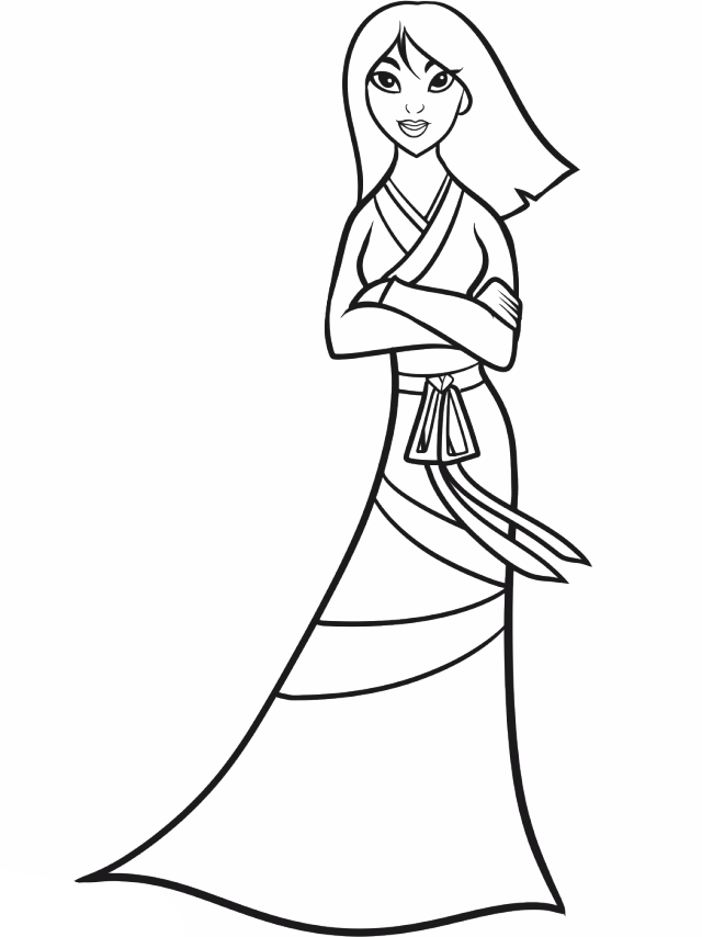 Mulan Coloring Pages - Coloring Home