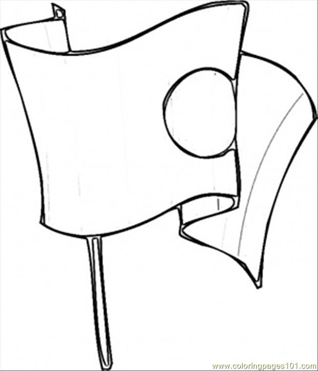japanese flag coloring pages - photo#35