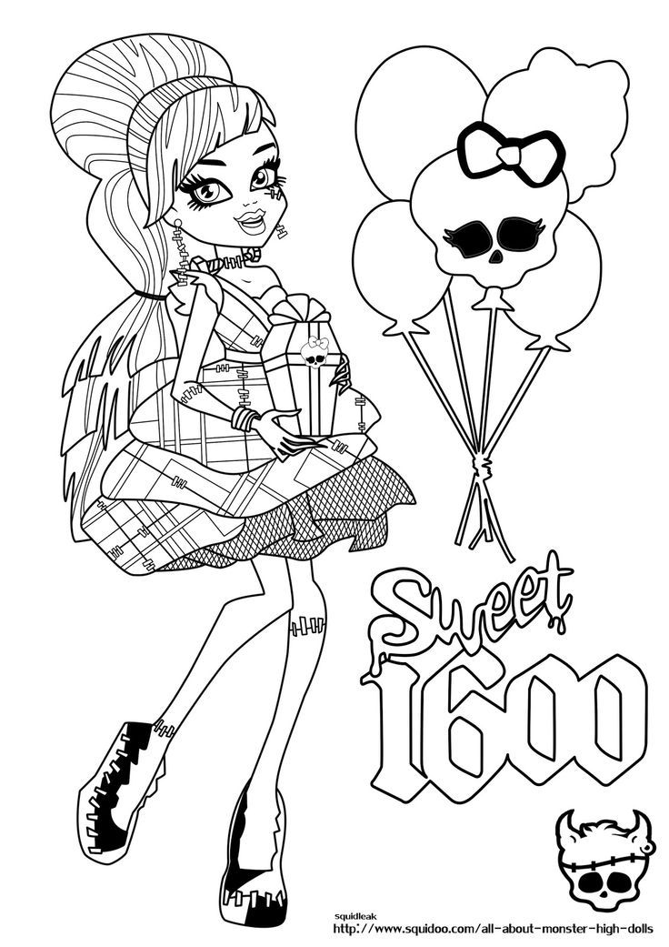 Frankie Stein Monster High Coloring Page Fun Stuff High Frankie Coloring Pages