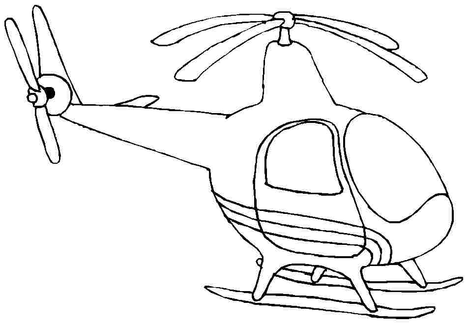 coloring pages helicopter - photo#18