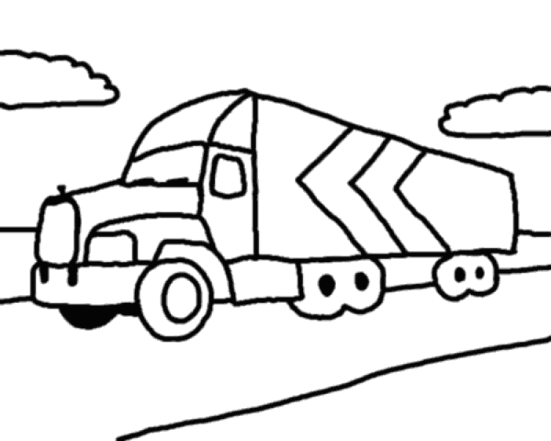 eighteen wheeler coloring pages - photo#25