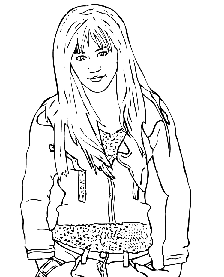 Hannah Colouring Pages