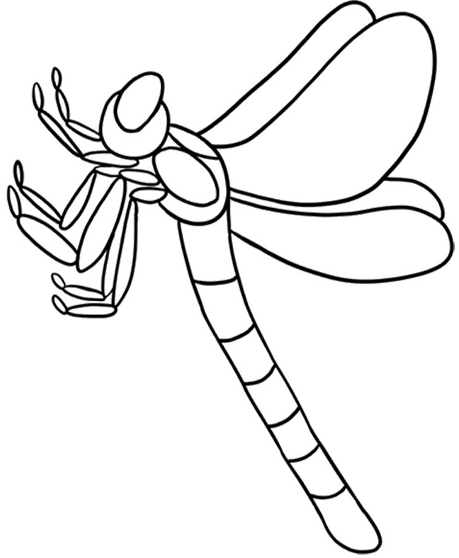 Dragonfly coloring pages for kids az coloring pages for Dragonfly coloring pages