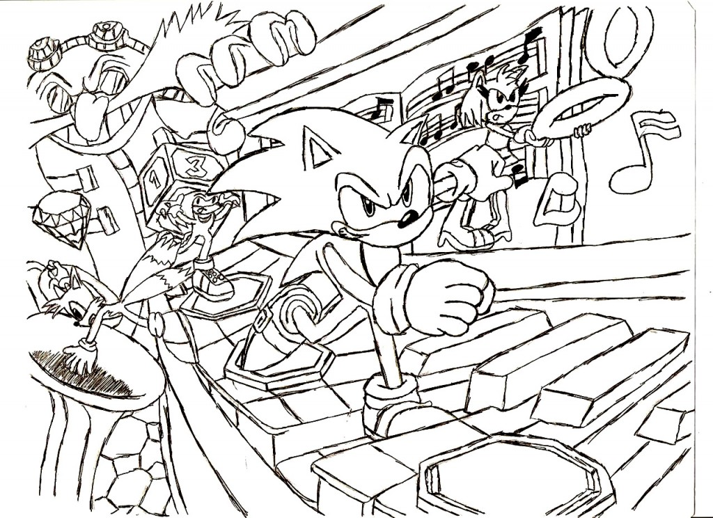 sonic hedgehog christmas coloring pages - photo#15