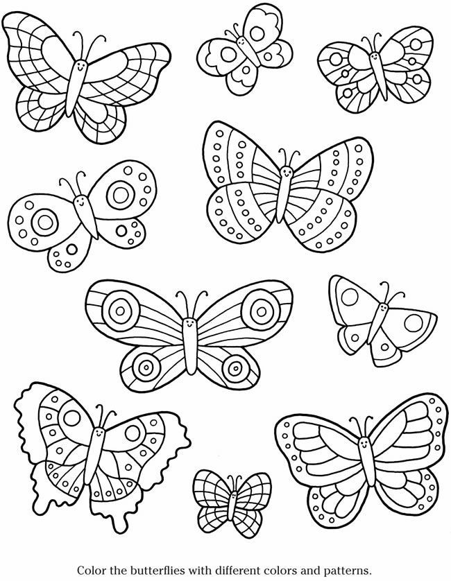 Butterfly Templates To Print - Coloring Home - photo#8