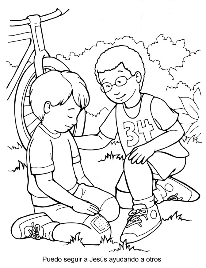 The Good Samaritan Coloring Page
