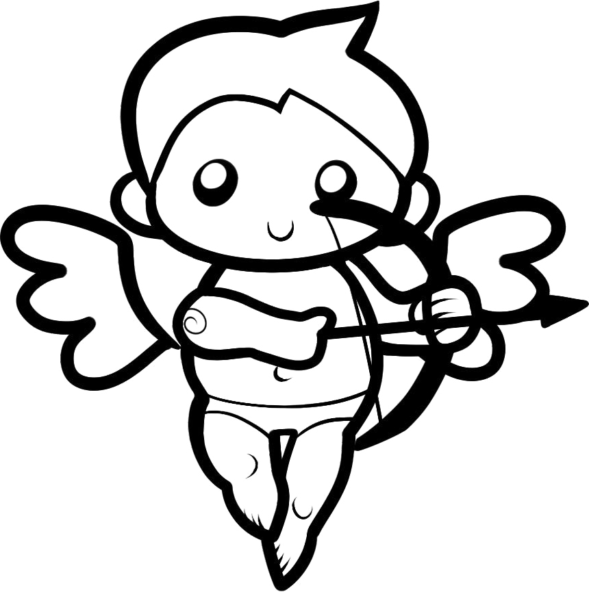 cupid coloring book pages - photo#13