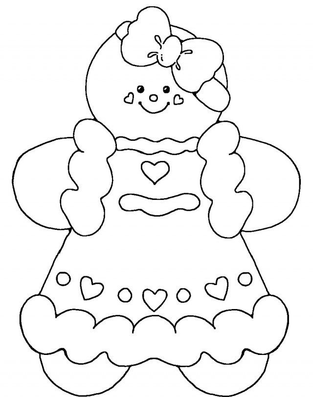 Gingerbread Girl Coloring Page - AZ Coloring Pages