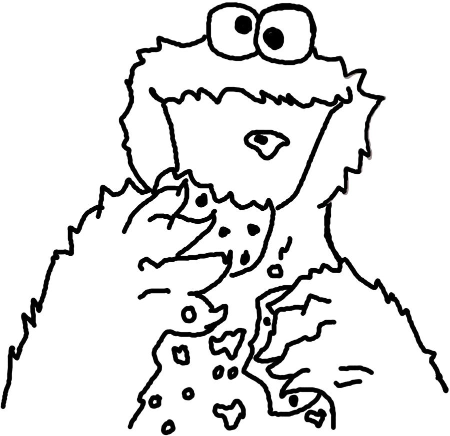 Coloring Pages Of Cookie Monster Coloring Home