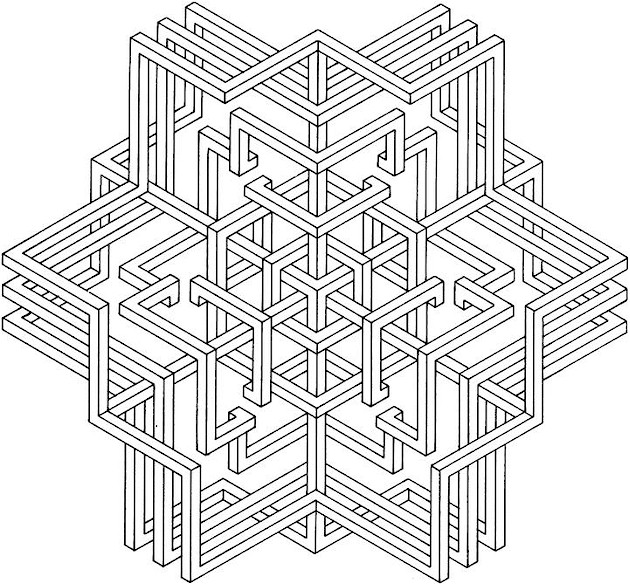 Free Coloring Pages Of 3d For Adults 3d Coloring Pages
