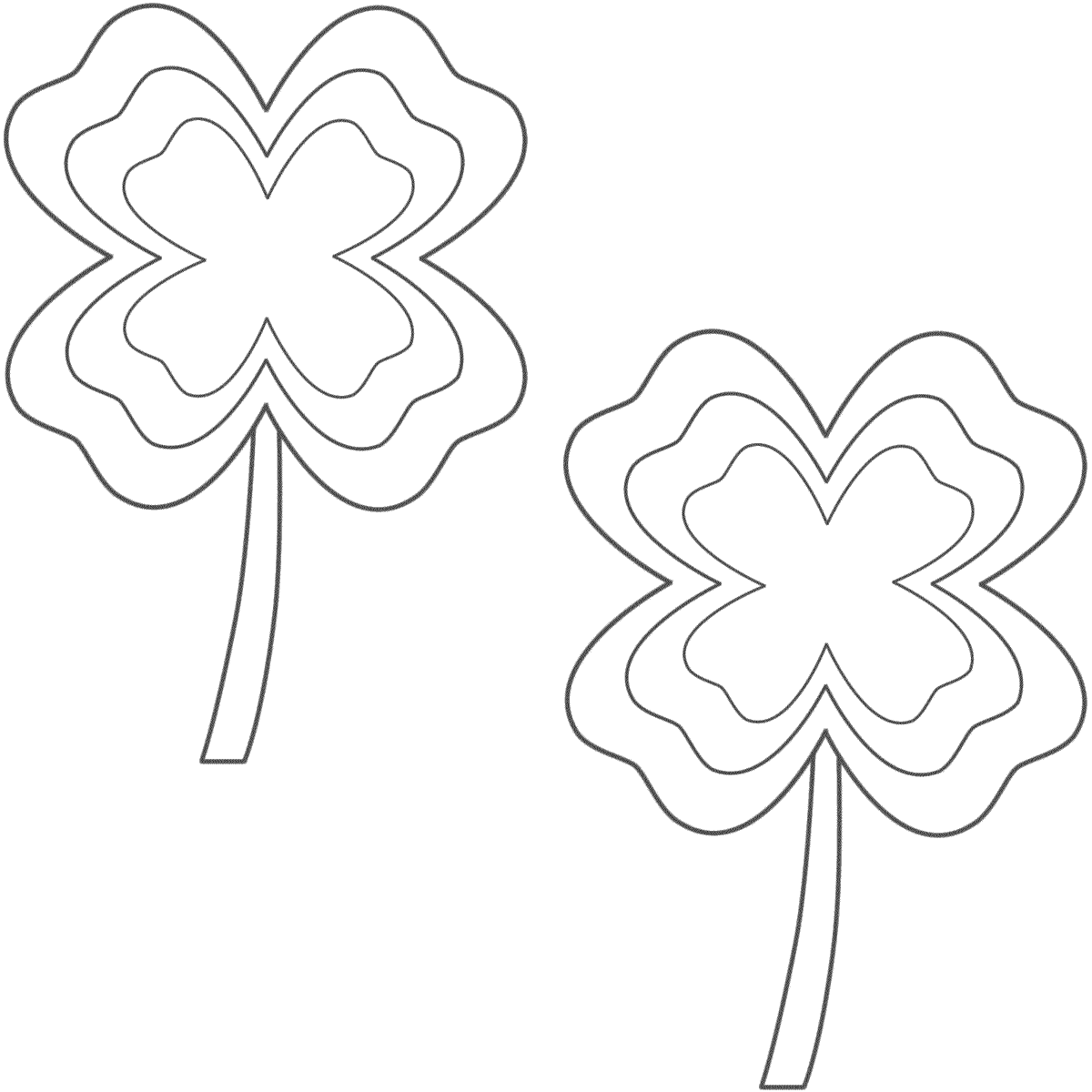 Four Leaf Clovers With Multi Border 2