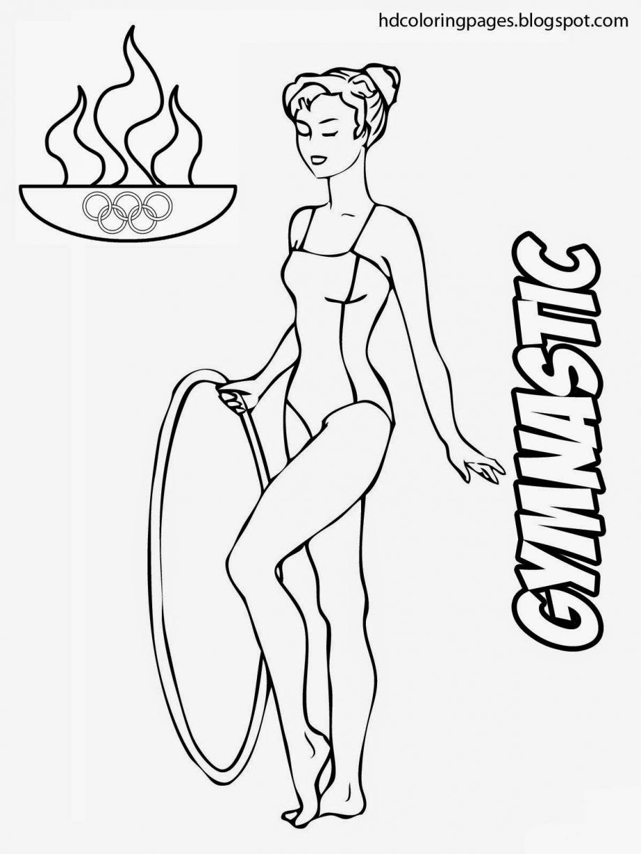 Gymnastics Vault Coloring Pages Olympic