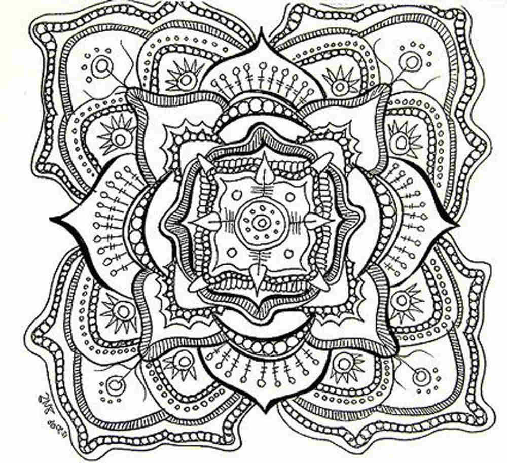 Celtic Knot Mandala coloring page | Free Printable Coloring Pages | 913x1000
