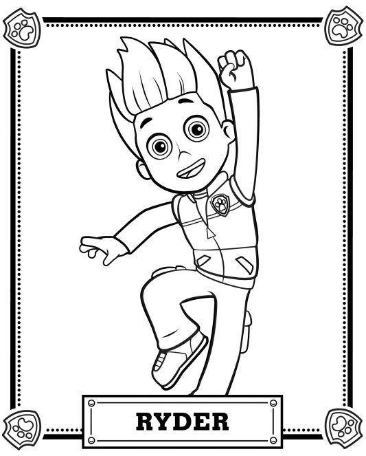 Small Paw Patrol Coloring Pages : Paw patrol coloring pages home