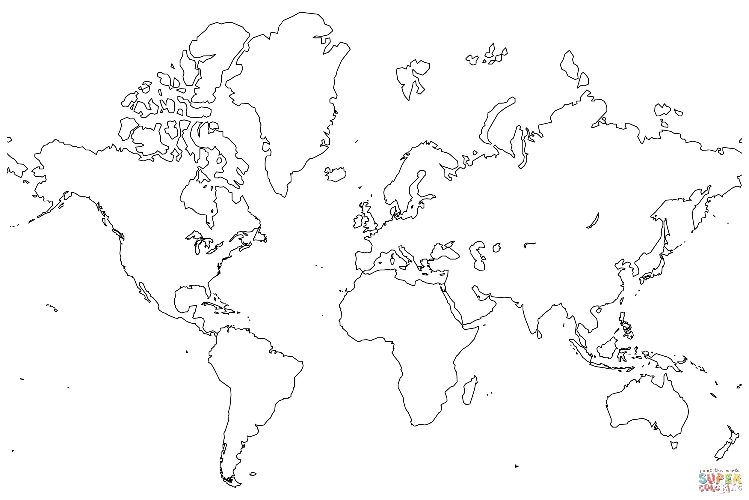 picture regarding Printable Blank World Map named Printable Blank World-wide Map Coloring Site - Coloring Property