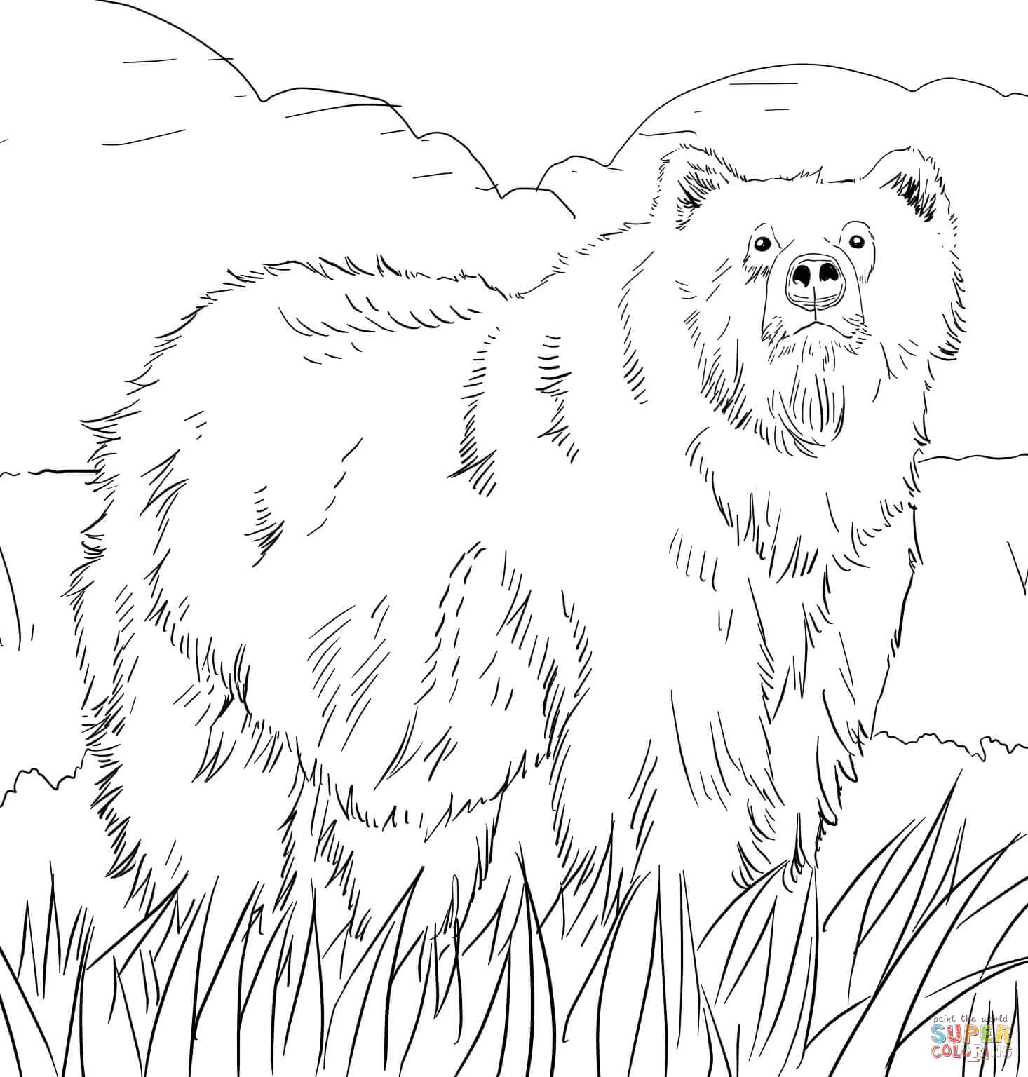 woodland animal coloring page coloring home