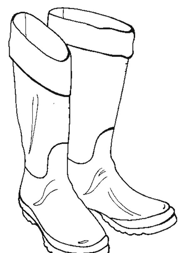 Snow Boots For Girl oloring Page | Coloring pages | Pinterest ...