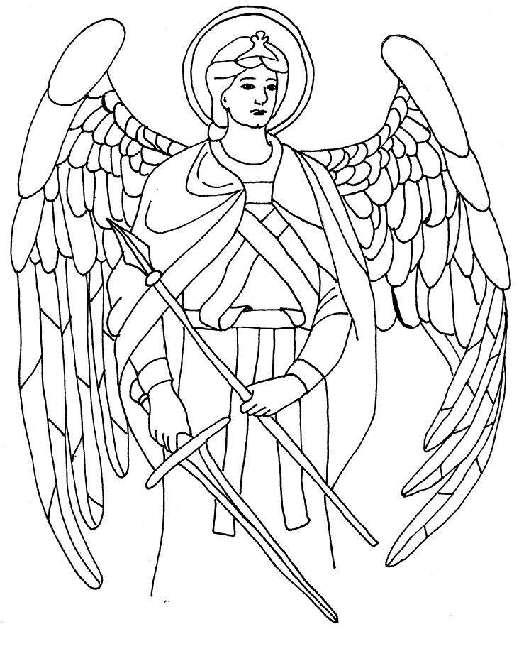 Archangel Raphael Coloring Page