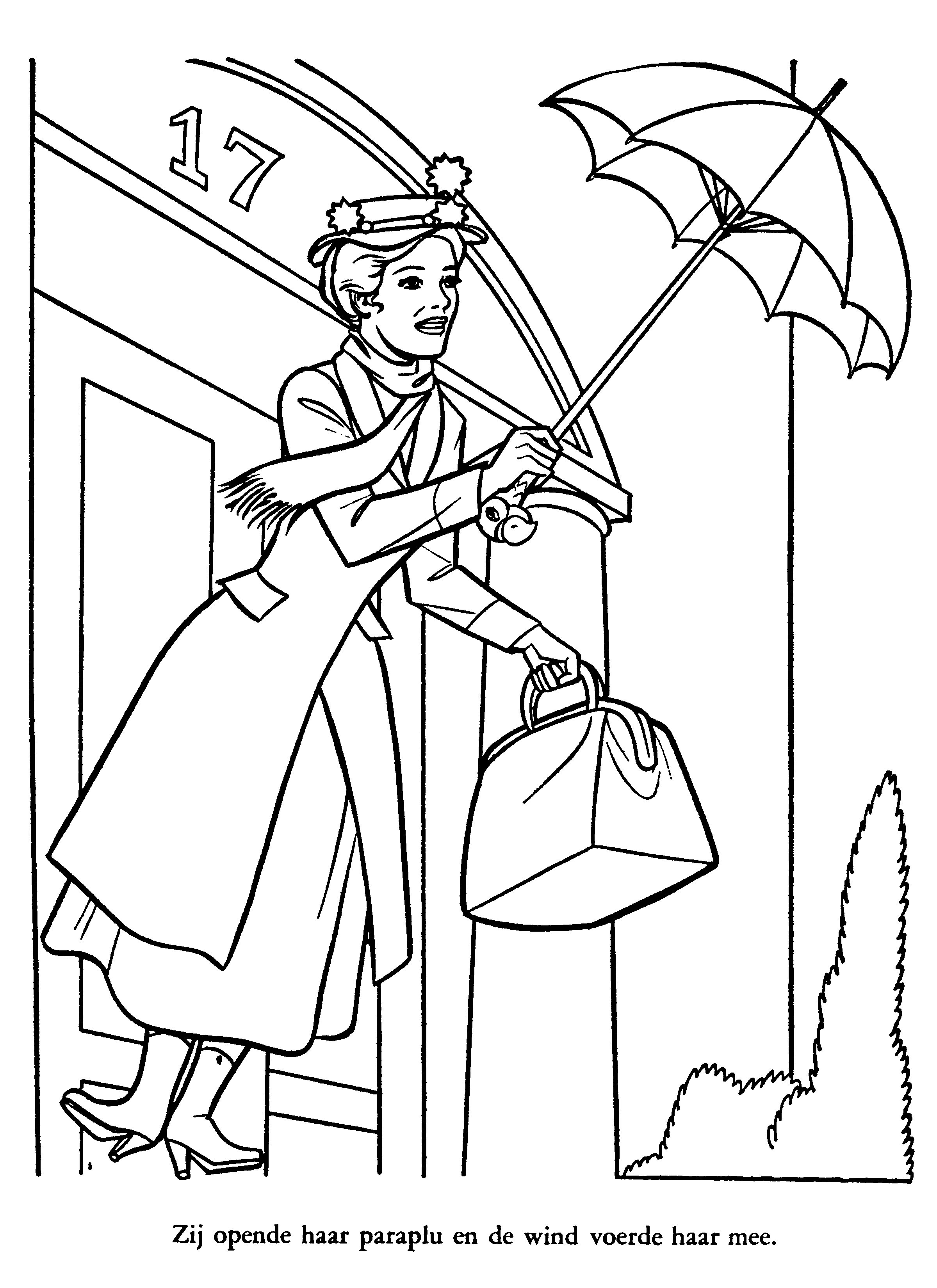Mary Poppins Coloring Page - Coloring Home