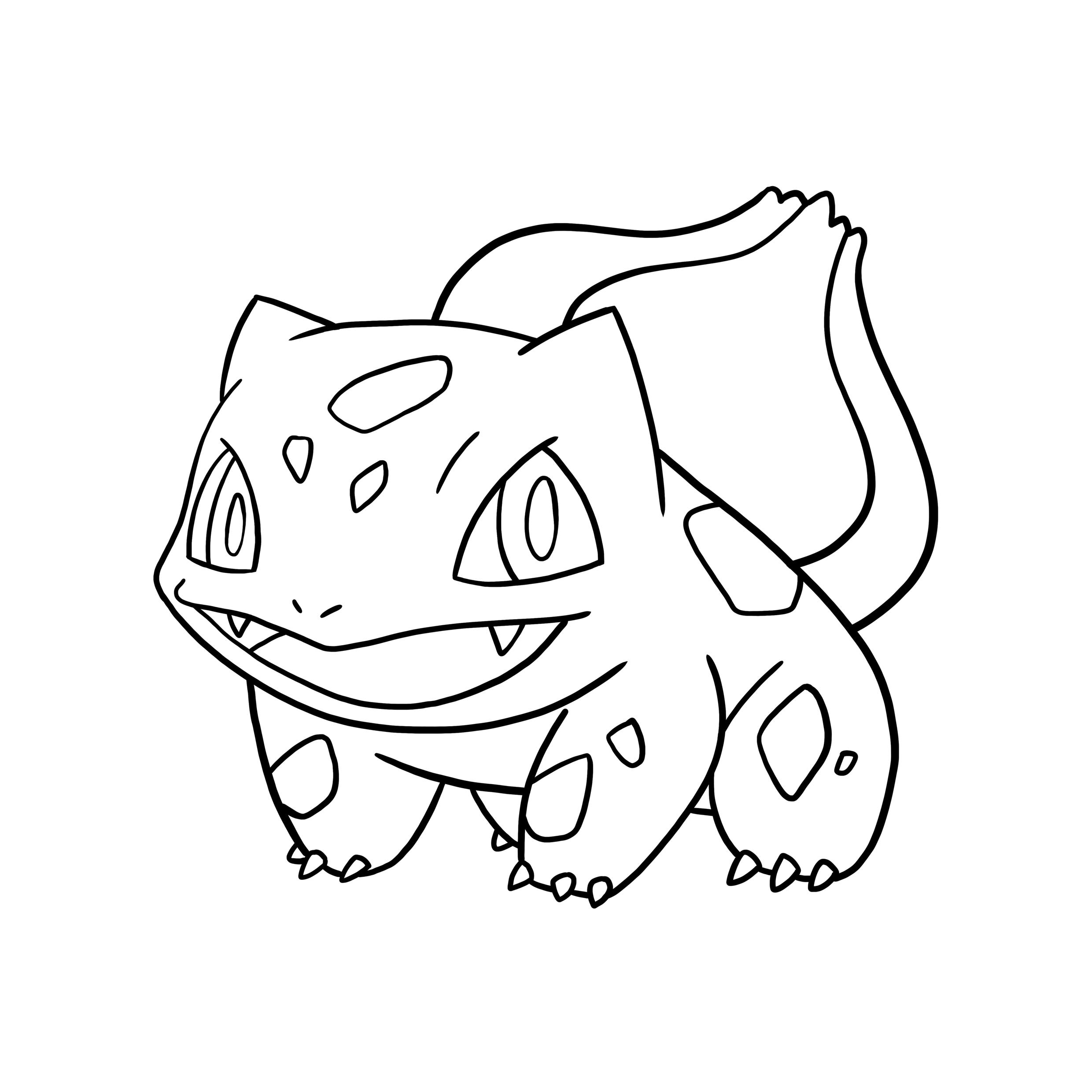 bulbasaur coloring pages coloring home Pokemon Squirtle Coloring Pages  Bulbasaur Pokemon Coloring Pages