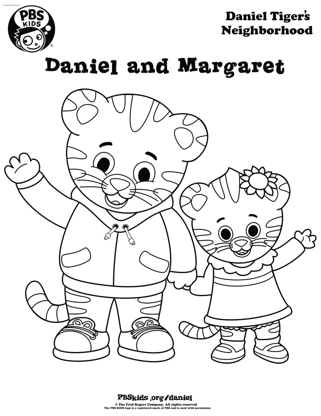 daniel tiger coloring pages printable - photo#2