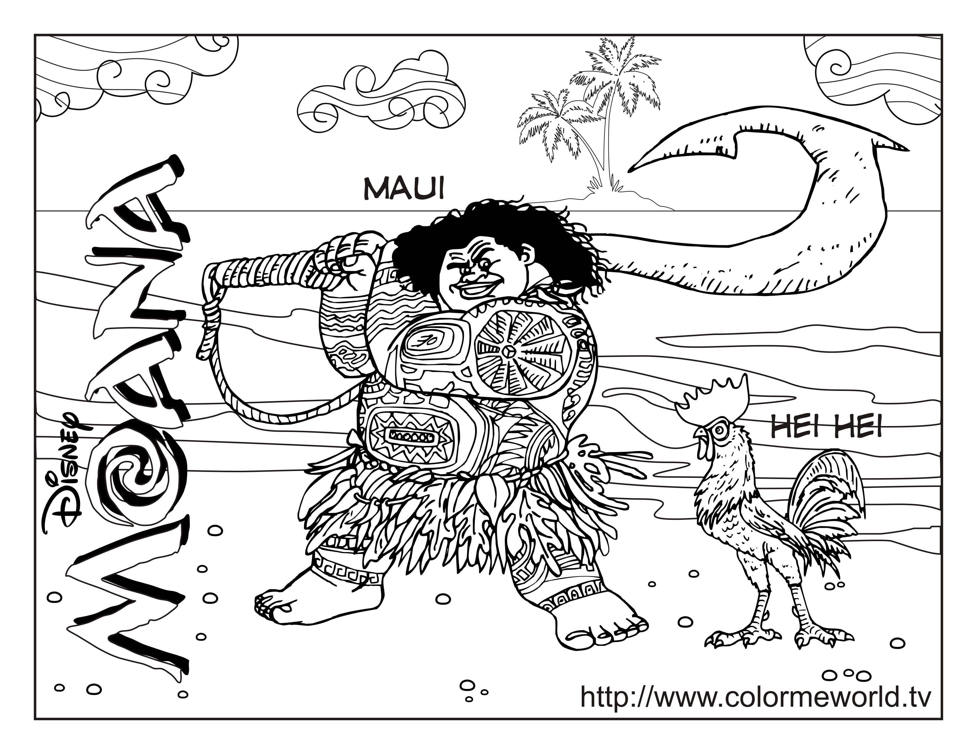Moana Coloring Pages - Coloring Home