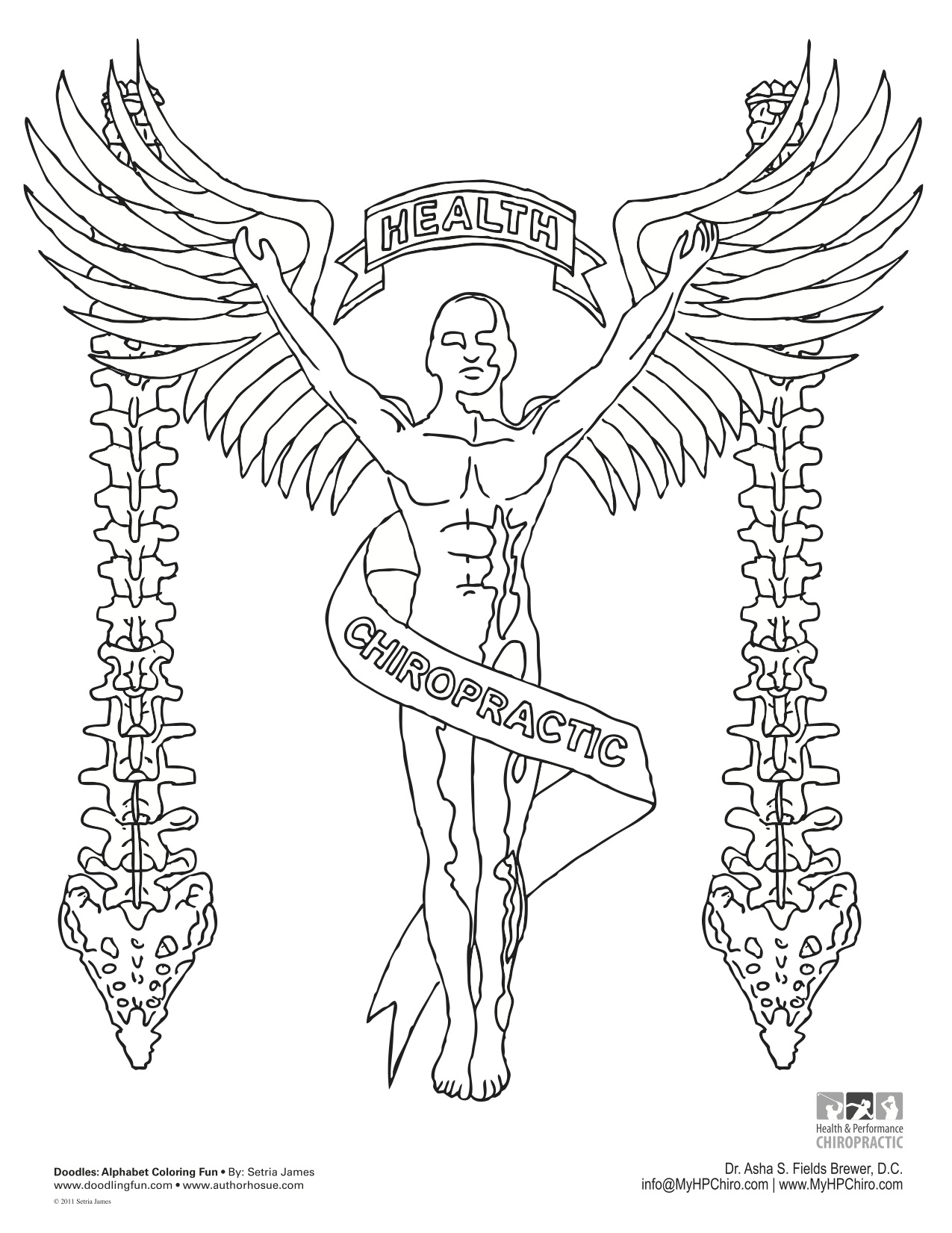 chiropractor coloring pages - photo#31