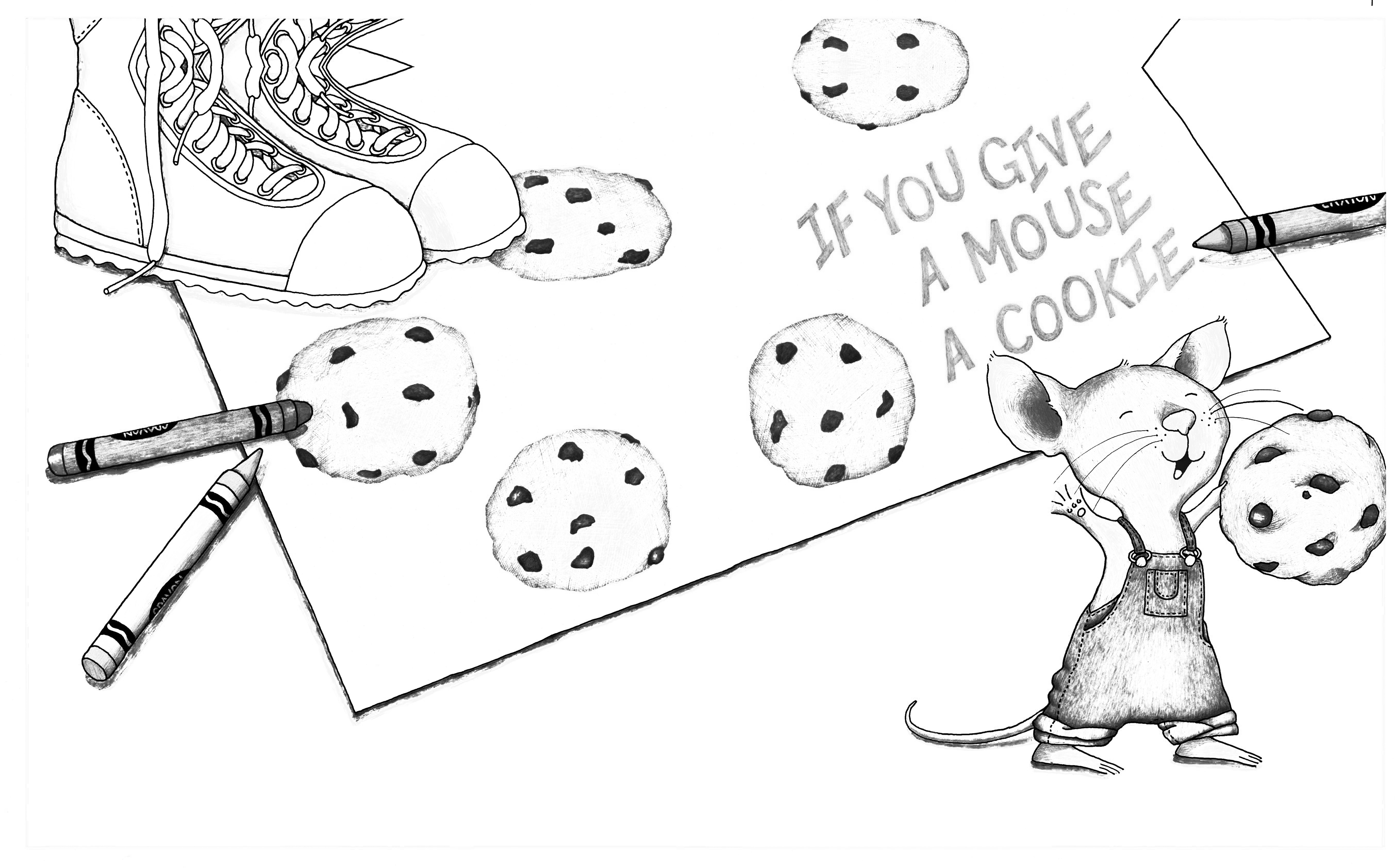 if you give a mouse a cookie craft if you give a mouse a cookie coloring page coloring home 8213