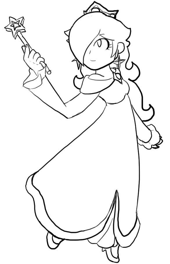 rosalina coloring page  az coloring pages, printable coloring