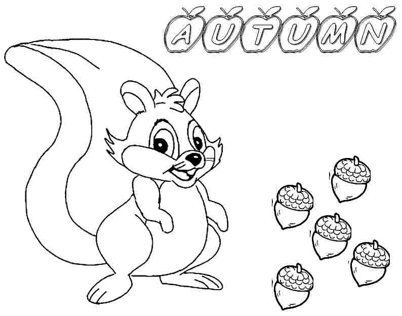 coloring pages fall animals images - photo#14