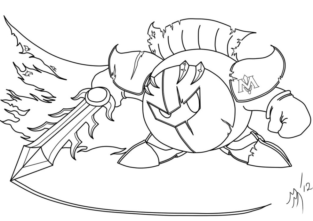 Meta Knight Coloring Page