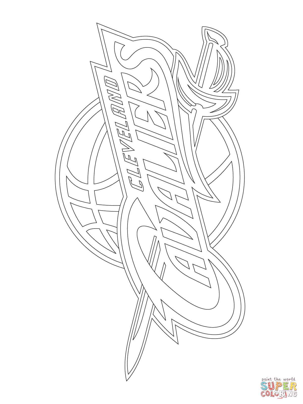 Cleveland Cavaliers Logo Coloring Page Coloring Home