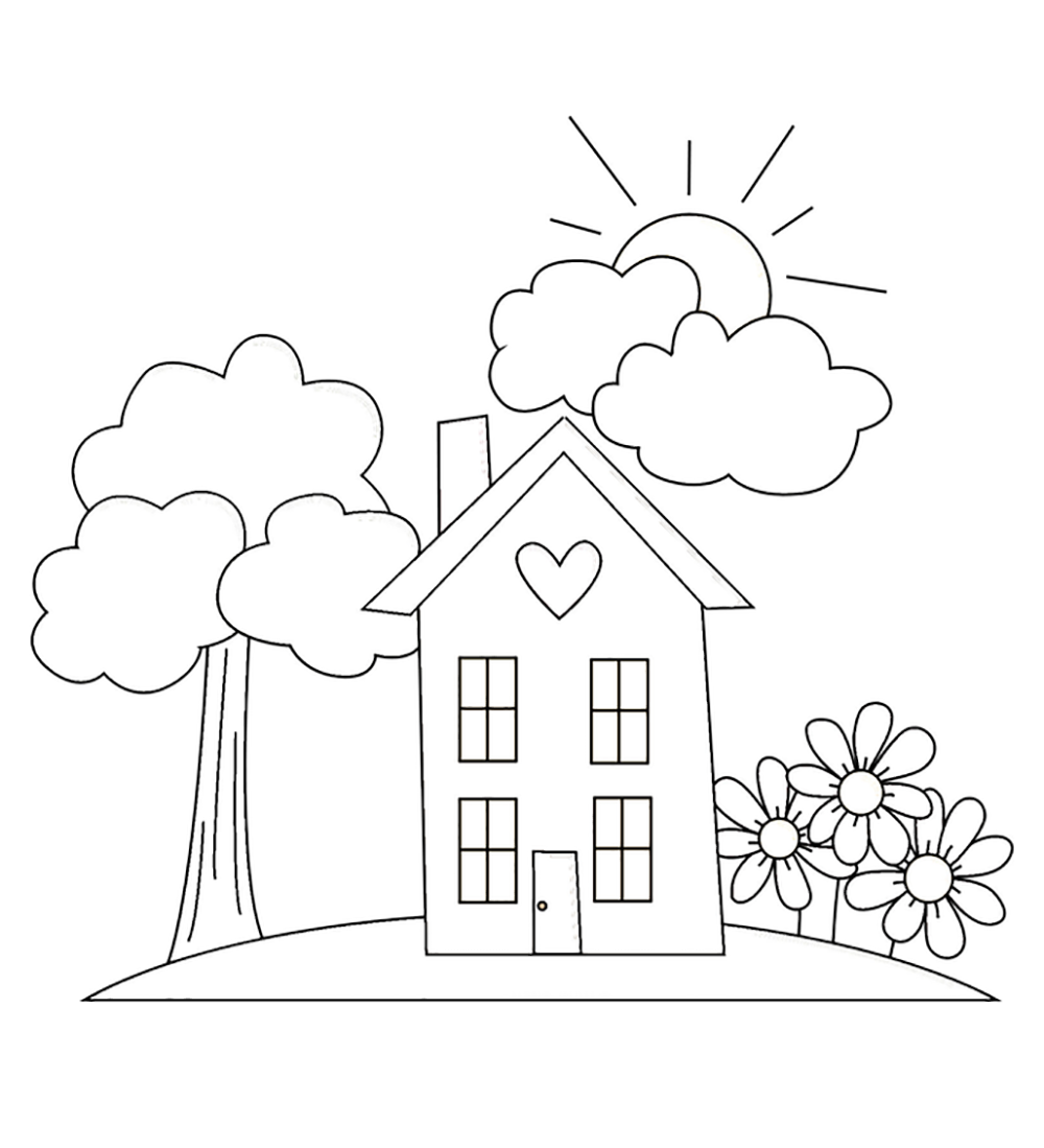Home Garden Coloring Pages For Kids Ga Printable