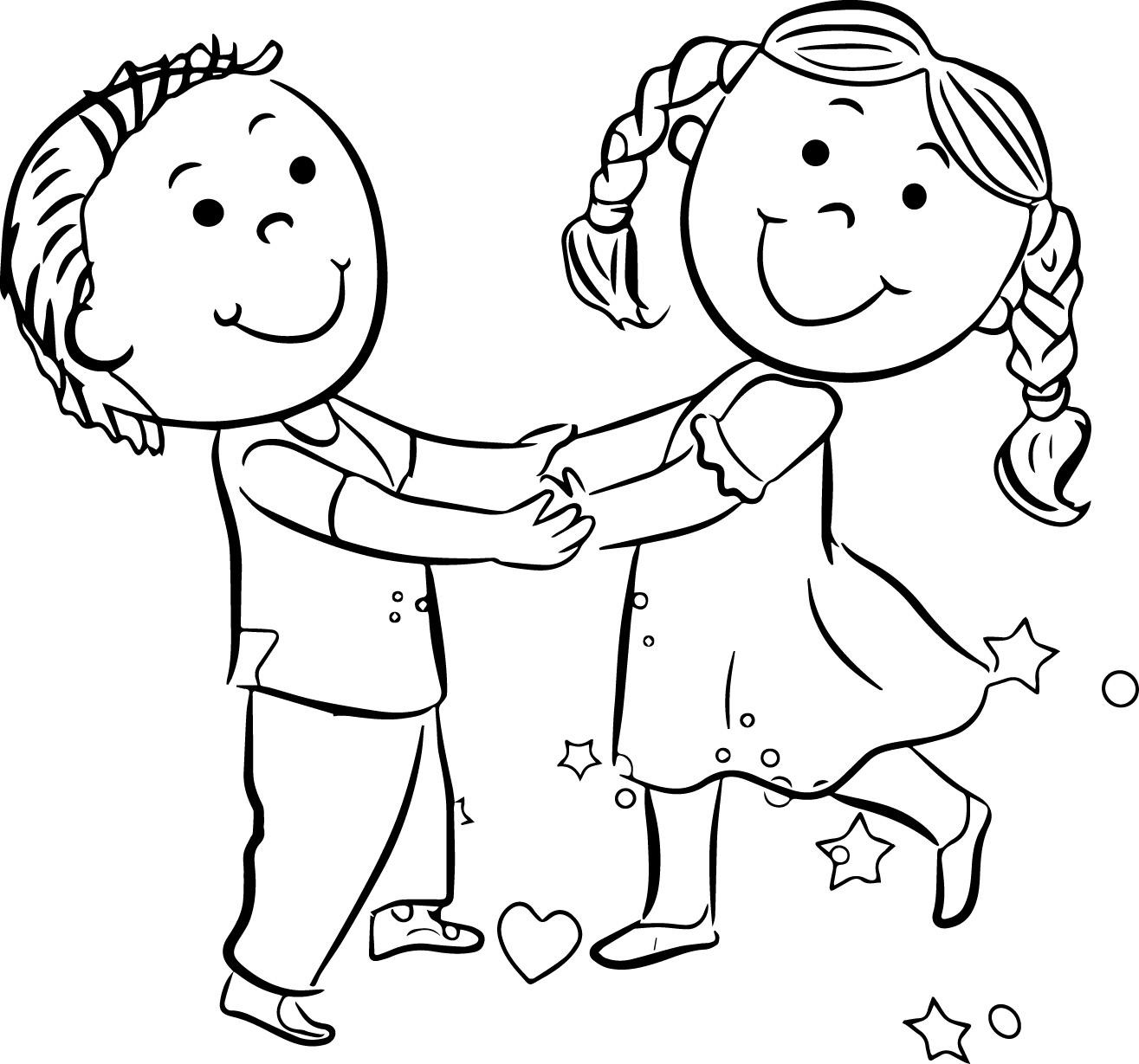 Children Playing Coloring Page - Coloring Pages Now