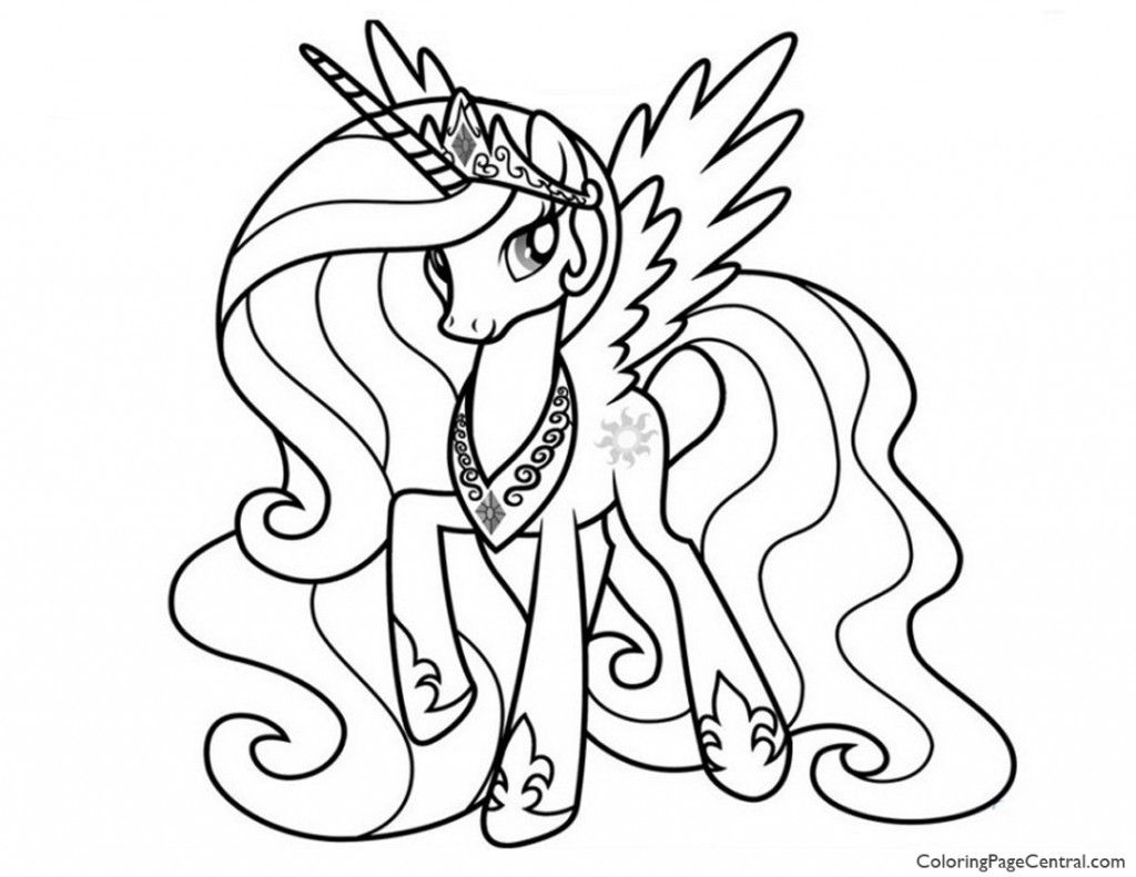 My Little Pony – Princess Celestia 02 Coloring Page | Coloring ...