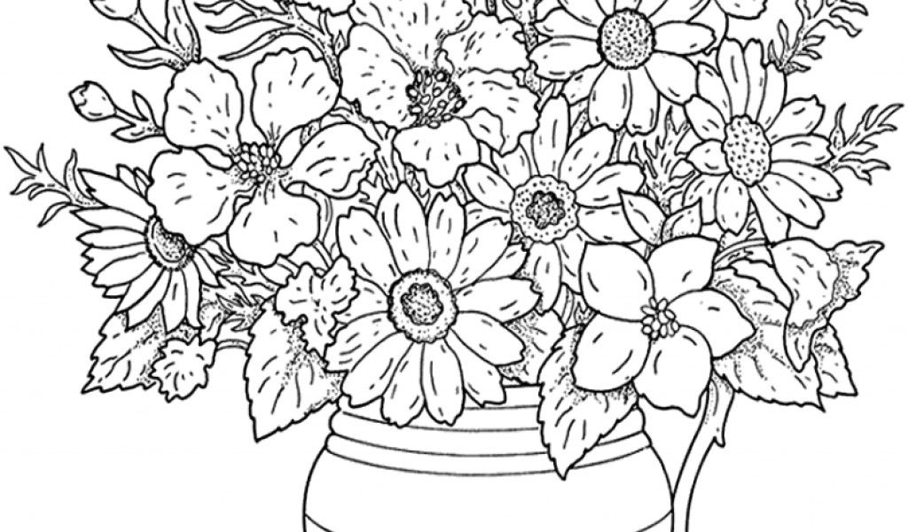 Abstract Flower Coloring Pages For Adults : Coloring Pages For Adults Abstract Flowers Coloring Home