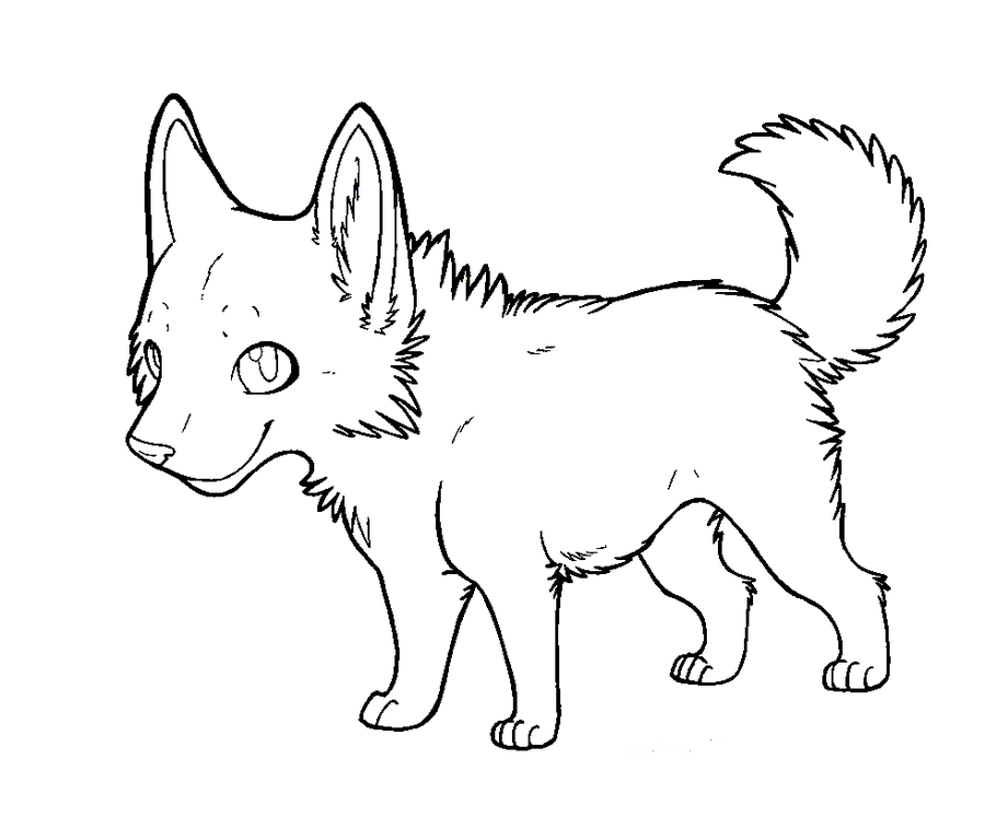 Wolf With Pup Coloring Pages Coloring Home