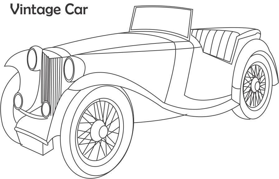 pin old car coloring - photo #48