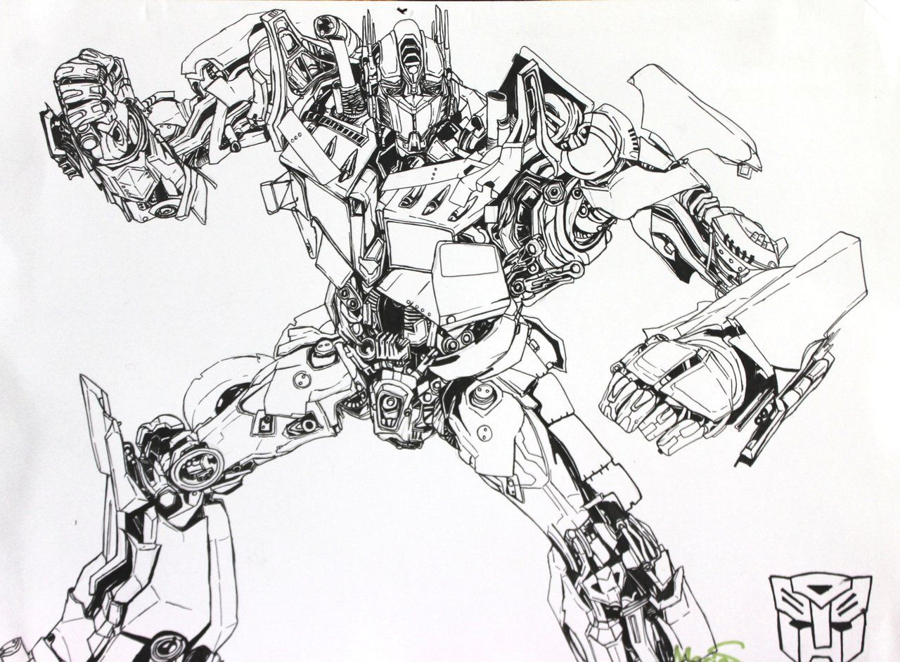 Optimus Coloring Pages Coloring