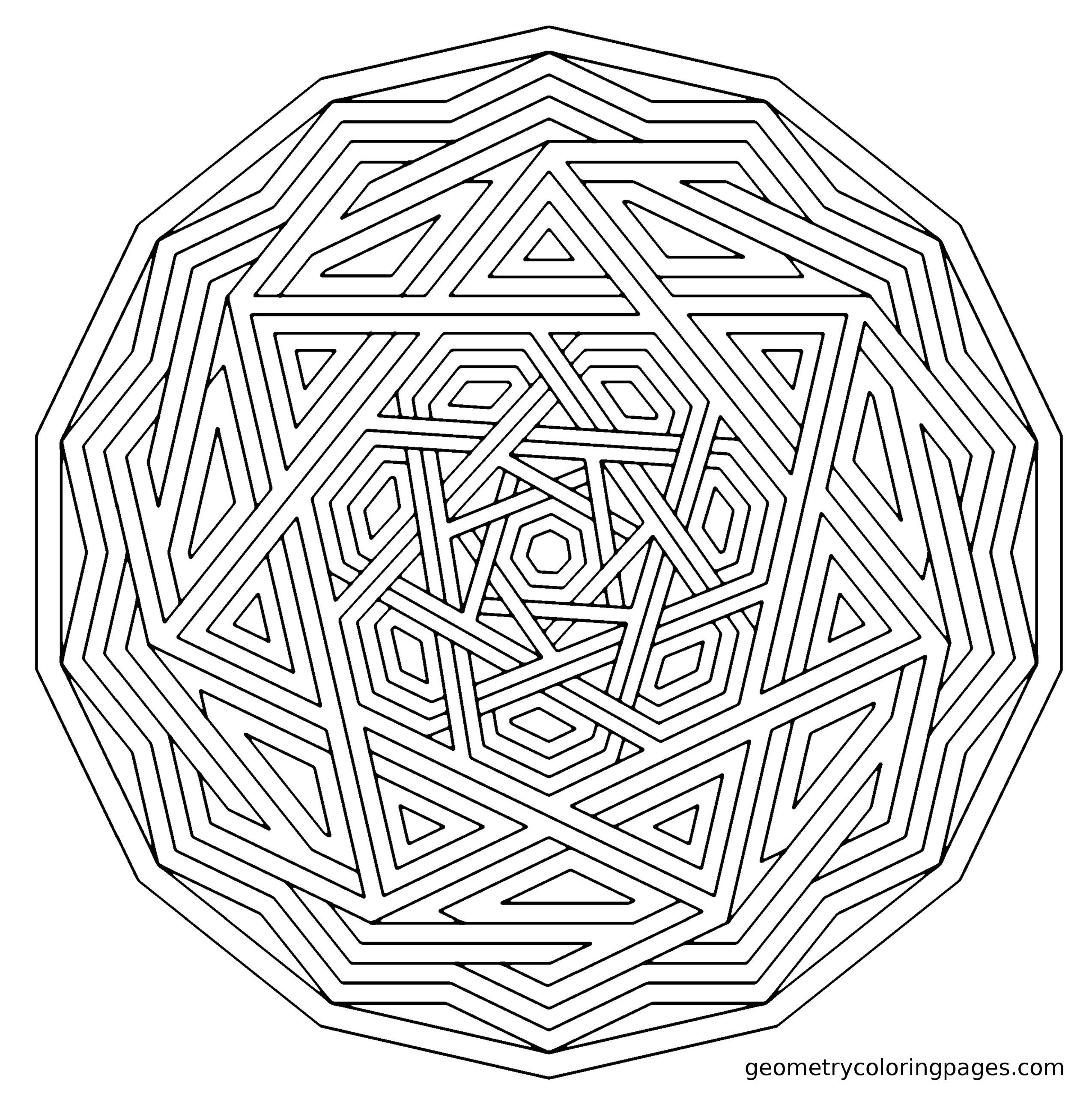 complex geometric coloring pages printable - photo#15