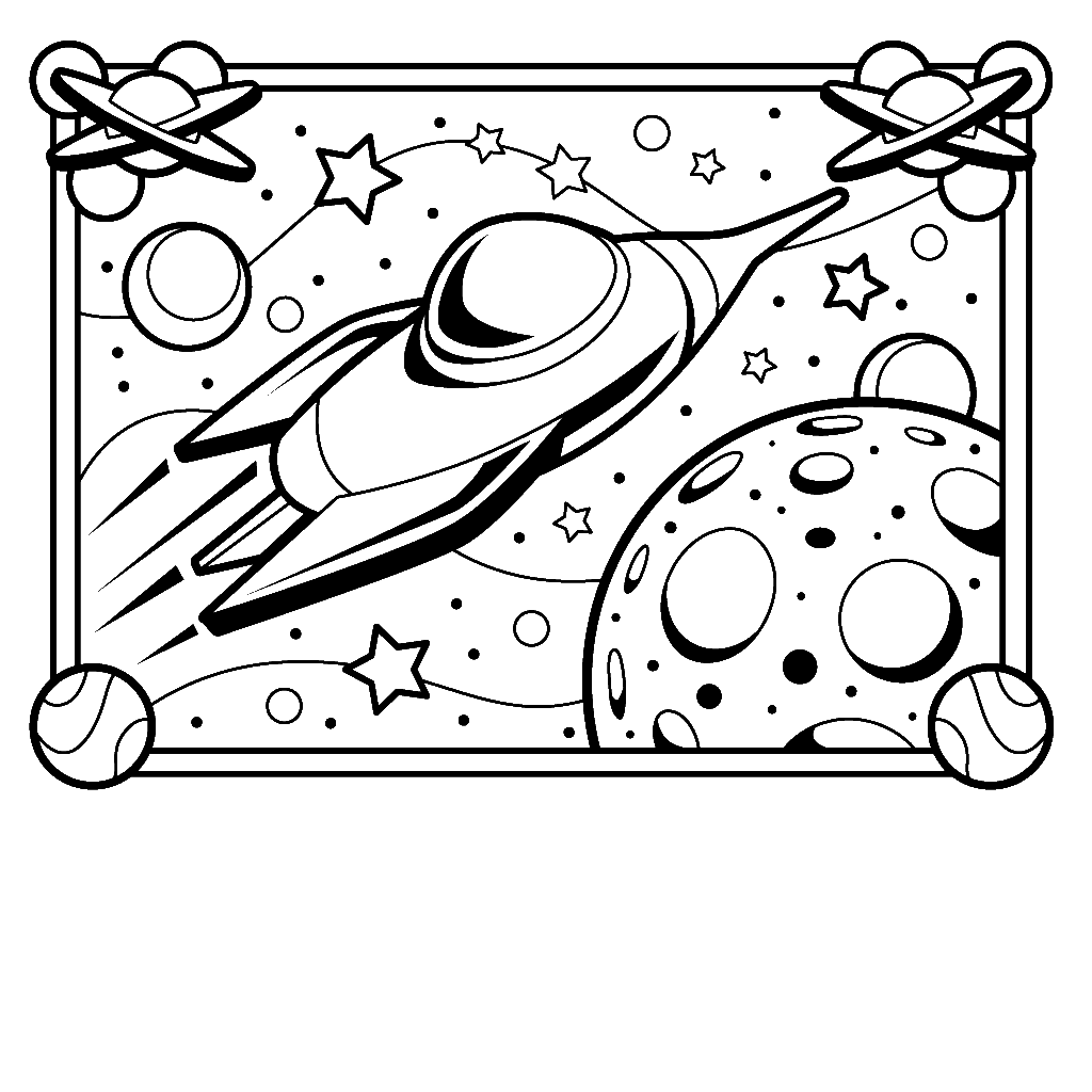 Spaceship Coloring Pages | Barriee