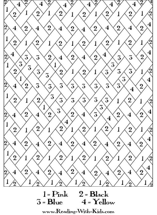 free printable paint by numbers for adults  az coloring pages, coloring pages
