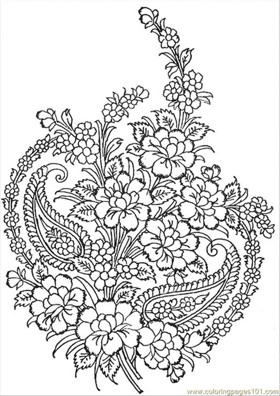 Advanced Fantasy Coloring Pages | Coloring Pages Textile Pattern ...