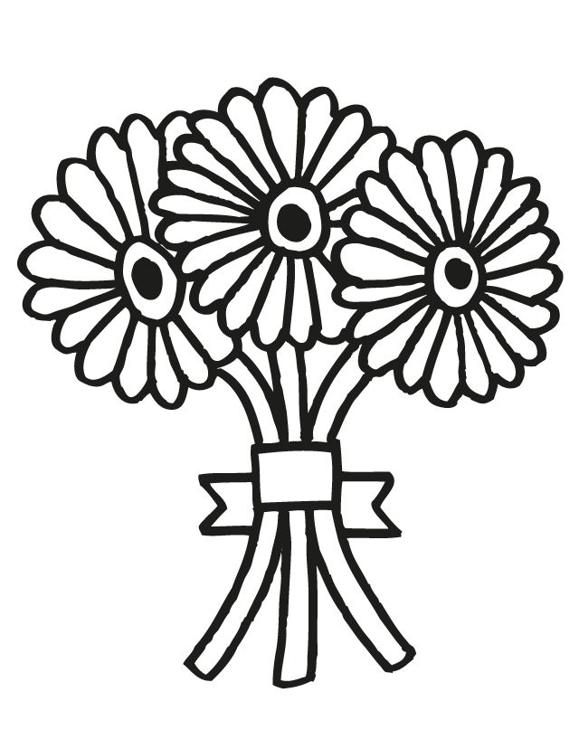 Flower-bouquet-coloring-pages | Free Coloring Pages On Masivy World ...