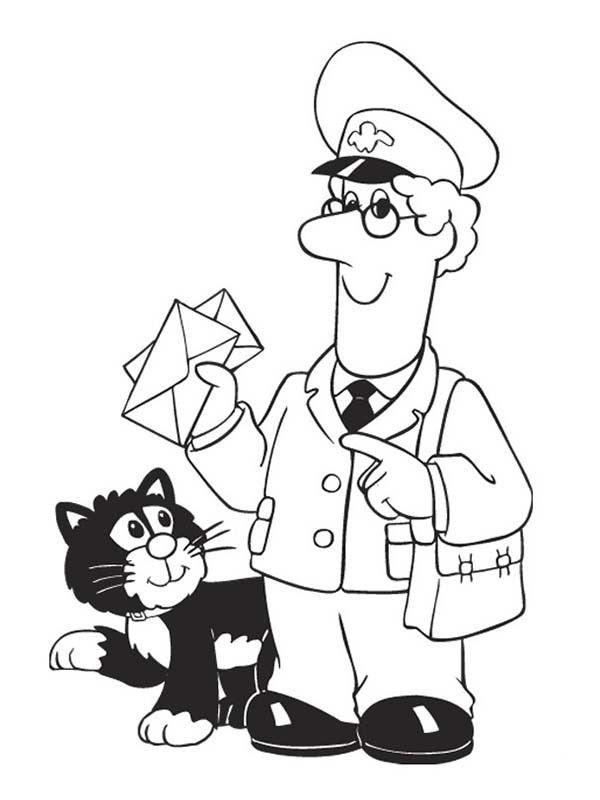 postman pat coloring pages